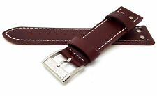 NEW HAMILTON 22MM GENUINE LEATHER WATCH STRAP BROWN