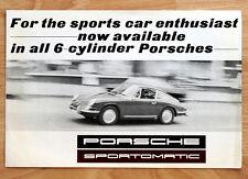 """orginal Prospekt """"Porsche 911"""" der ersten Ur-Eelfer 1967 Sportomatic"""