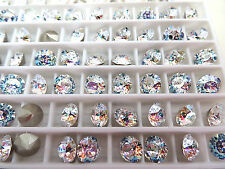 24 White Patina Foiled Swarovski Crystal Chaton Stone 1088 29ss 6mm