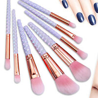 8PCS Pro Kabuki Makeup Brushes Cosmetic Powder Foundation Make Up Brush Set New