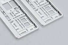 2 x Chrom - Look Kennzeichenhalter Nummernschildhalter Kennzeichenrahmen PKW LKW