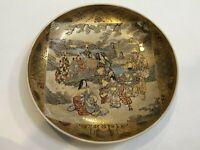 "Antique Japanese Meiji Period Satsuma Detail Handpainted Bowl, Signed, 12"" Dia"