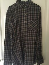 Men's American Apparel Check Flannel Shirt In Size Small