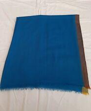 Scarf Étole  Hermès Scotland Bleu Cachemire ,Foulard étole Hermès scotland bleu