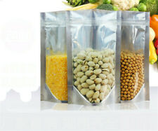 50/100pcs X Stand Up Aluminum Foil Package Bag Mylar Zip Lock Food Grade Pouch