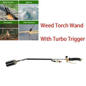 3000°F Weed Burner Weed Wand with Trigger Turbo Push Button cCSAus Certificate