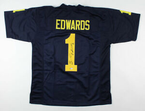 Braylon Edwards Signed Michigan Wolverines Jersey (PSA COA) Browns Pro Bowl W.R.
