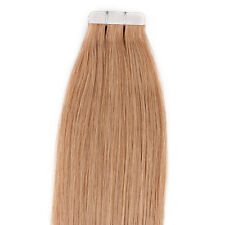 "22"" Tape In Remy Real Human Straight Hair Extensions #27 Honey Blonde 20pcs 50g"