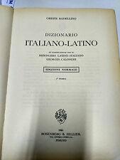 ORESTE BADELLINO DIZIONARIO ITALIANO - LATINO  1 TIRATURA