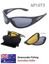 POLARISED SUNGLASSES  (yellow lens) - Unisex,great for all outdoor use & fishing