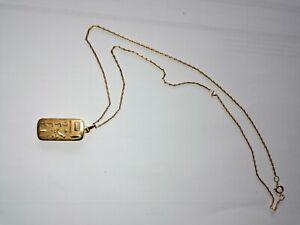 Medallion zum Öffnen, goldfarbig