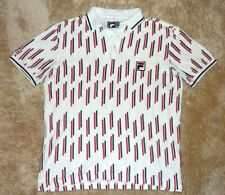 FILA white line Polo shirt Tennis BORIS BECKER BB Wimbledon vintage US S / D 48