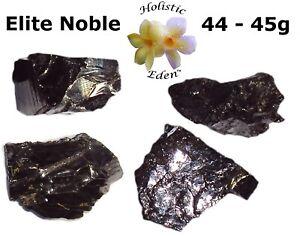 44 - 45 Gram Elite Noble Shungite Rough Stone Water Purification EMF Protection