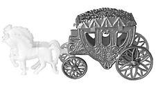 2 Cinderella Coach Wedding Carriage Favor Plastic - Silver