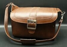 Vintage Samsonite Camera Case Bag Brown Leather