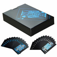 1 Deck Black Plastic PVC Waterproof Poker Playing Cards Table Game New In Box
