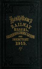 BRADSHAW'S RAILWAY Manual Shareholders Guide and Directory 1915