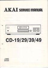 Service Instructions Manual cahier AKAI cd-19/29/39/49 Compact Disk (b650)
