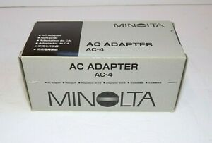 Minolta AC-4 AC Adapter  (New in box)  For Minolta Dimage X Cameras