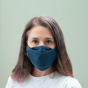 Denim Face Mask Adults Kids Design Virus Washable Reusable Cotton Fashion