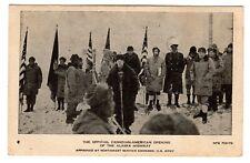 Official Canadian-American Opening Alaska Highway at Lake Kluane YUKON 1942