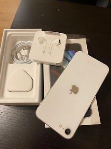 Apple iPhone SE 2nd Gen. - 128GB - White (Unlocked) A2296 (GSM) + Invoice
