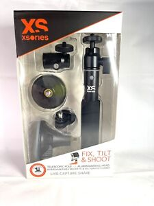 GoPro XSories Fix/Tilt, Shoot Camera Mount System, Magnet & Suction Mounts BLACK