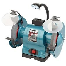 """Clarke CBG8370L 8"""" Bench Grinder With Lamp 6500532"""