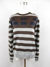 ARMANI Jr. Girl Boy Age 14 Thin Knit Striped Wool Blend Jumper Women's sz S BJ3