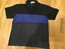 Designer rare Mens Polo T Shirt Yves Saint Laurent Vintage Big Logo Size M YSL