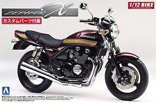 Aoshima 51689 Bike 16 Kawasaki ZephyrX with custom parts 1/12 scale kit