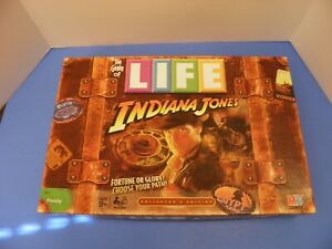 Game of LIFE Indiana Jones Edition Board Game By Milton Bradley 2008 Complete