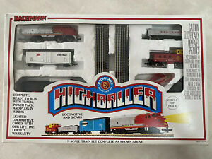 VINTAGE BACHMANN HIGHBALLER N SCALE TRAIN SET IN BOX 24300 For Parts