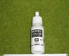 Vallejo Model Color MATT WHITE Acrylic Paint 70951