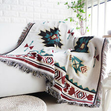 Geometric Bohemian Sofa Throw tassels Cover Lounge Couch Blanket Sheet Chair AUS