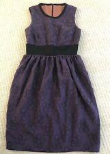 Brand New Orla Kiely Purple Raised Flower Dress Sample Size 6