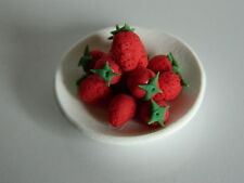 Dolls House 3680 Strawberries on Plate 1 12 for Dollhouse #