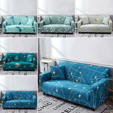 1/ 2/ 3/ 4 SEATER SOFA COVERS - Elastic Fabric Loveseat Couch Settee Slipcover