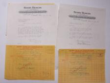 1926 Lamson Goodnow Henry Duncan Hardware Paint Everett MA Signed Ephemera L534E