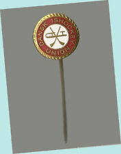 Scarce Danish Ice Hockey Union Stick Lapel Pin From Marty Martino's Collection