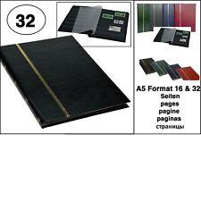 LOOK Schwarz Briefmarkenalbum Einsteckbuch Album A5 Buchform 32 schwarze Seiten
