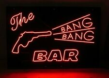 "New The Bang Bang Bar Gun Lamp Neon Light Sign 20""x16"""