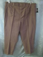 Erika Plus Size 22W Brown Casual Pants NWT