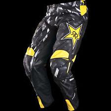 Answer A12 Rockstar Motocross/Dirt-Bike Pants (Black-Yellow) 30