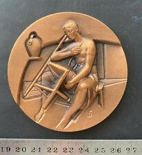 ESPANA c1990s, MEDALLA ARTESANO SILLERIA, bronce, estuche original, 10.0oz
