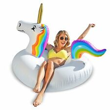 GoFloats Unicorn Party Tube Inflatable Pool Float! Be Magical!