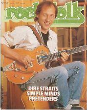 REVUE : Rock & Folk # 208 dire straits pretenders simple minds smiths m oldfield