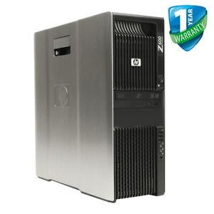 HP Z600 Workstation PC Dual Xeon CPU 24GB RAM HDD SSD Nvidia Quadro GPU