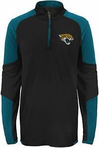 Outerstuff NFL Football Kids Boys Jacksonville Jaguars 1/4 Zip Performance Top