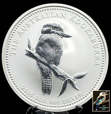 2005 Australian Kookaburra  2 oz .999 Silver with Issued Perth Mint Capsule BU